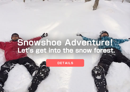Snowshoe Adventure! Let's get into the snow forest.