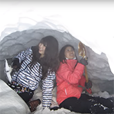 Make a Snow Hut and Jump into Snow