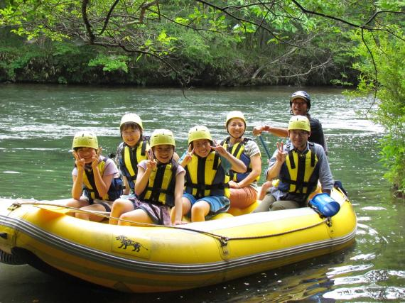 Relaxing Rafting on the Chitosegawa River!